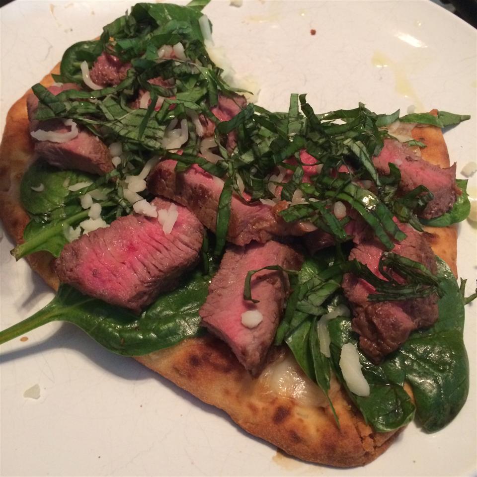 Grilled Steak and Fresh Mozzarella Flatbread