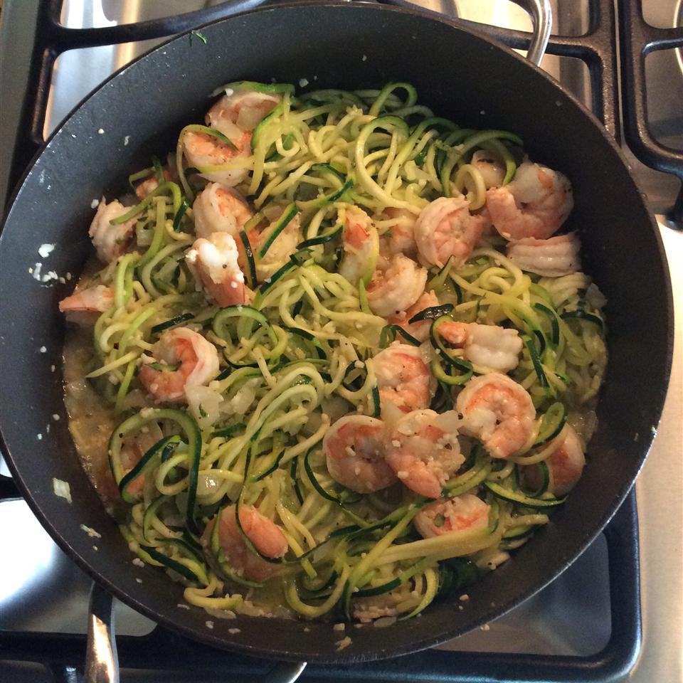 Shrimp Florentine with Zoodles Patty Castrejon Lough