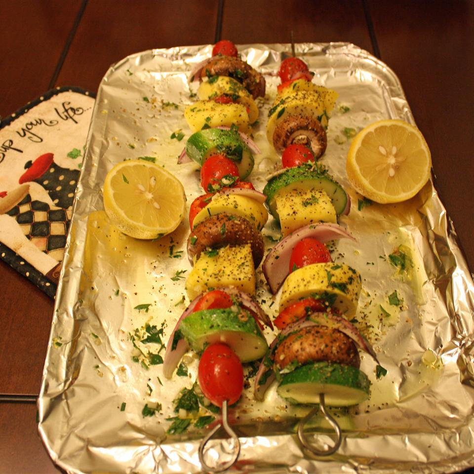 Grilled Fruit and Vegetable Kabobs