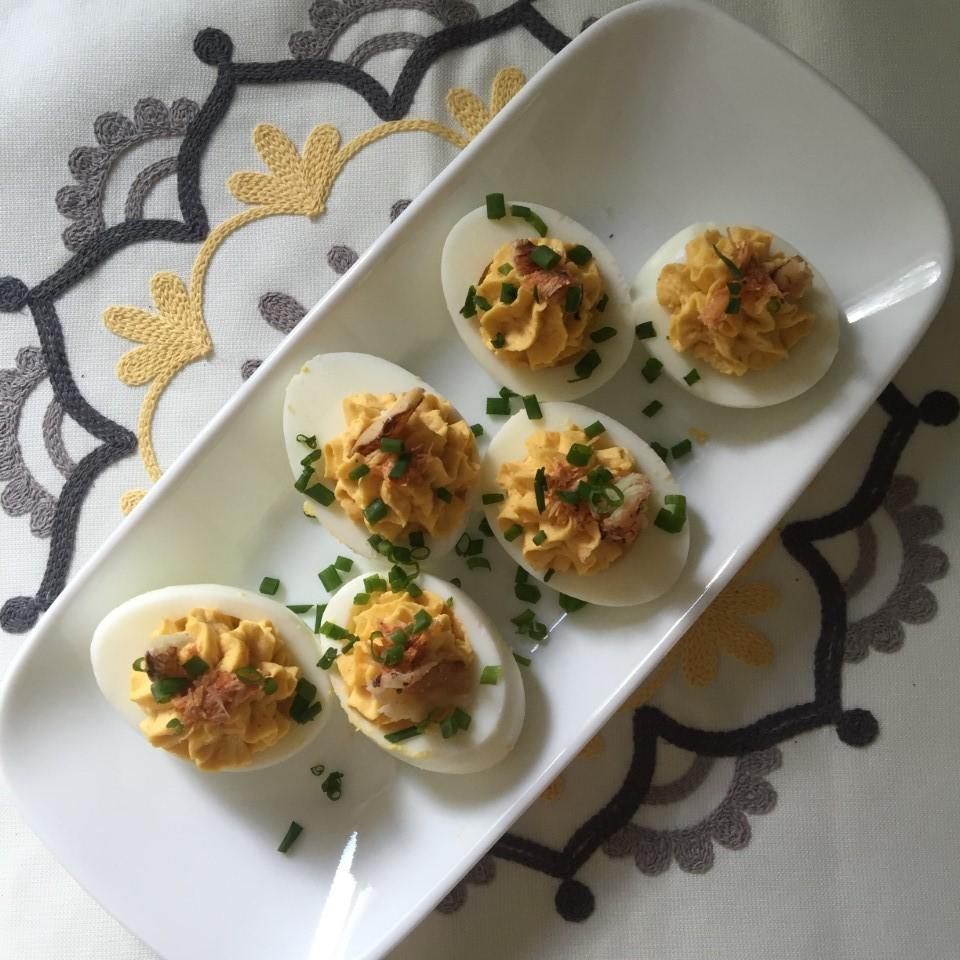 Crab-Stuffed Deviled Eggs MissElaineous