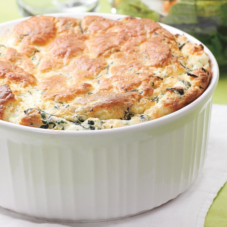 Spinach & Feta Souffle EatingWell Test Kitchen