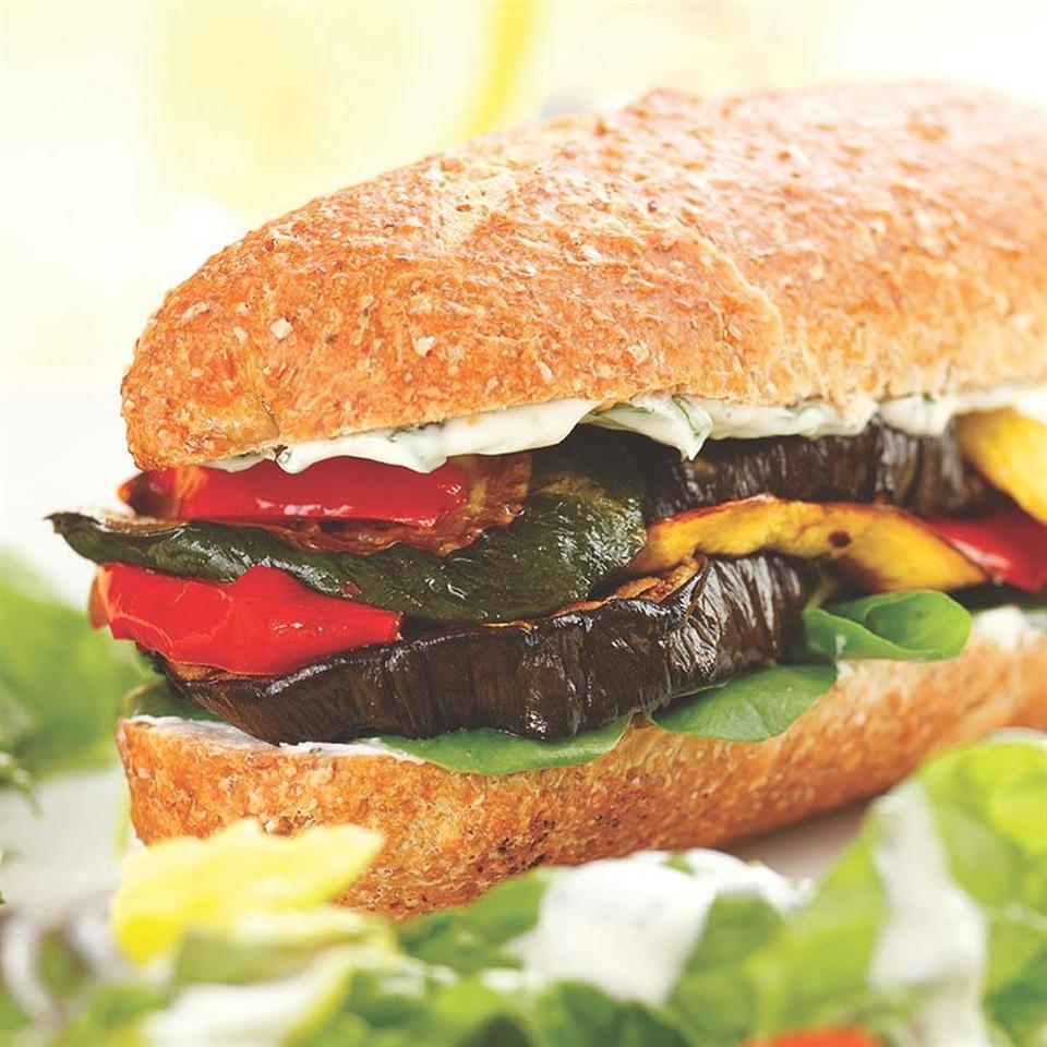 Roasted Vegetable Sandwiches EatingWell Test Kitchen