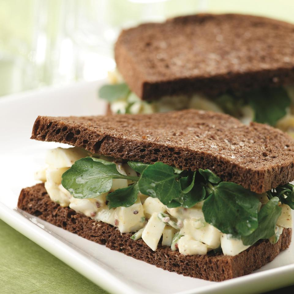 Egg Salad Sandwiches with Watercress EatingWell Test Kitchen