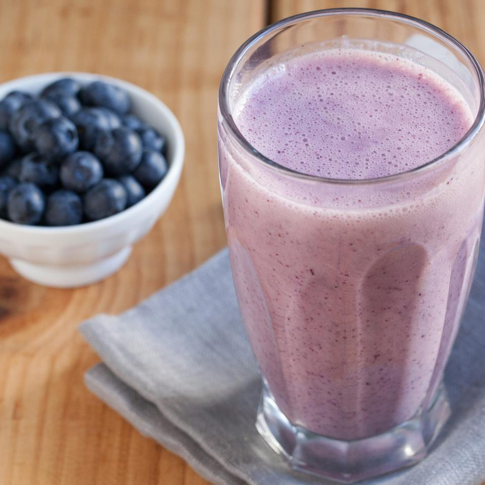 Refreshing and colorful fruit smoothies called batidos are served at Cuban snack bars all over Florida--try this recipe with blueberries and banana for a vacation in a cup.