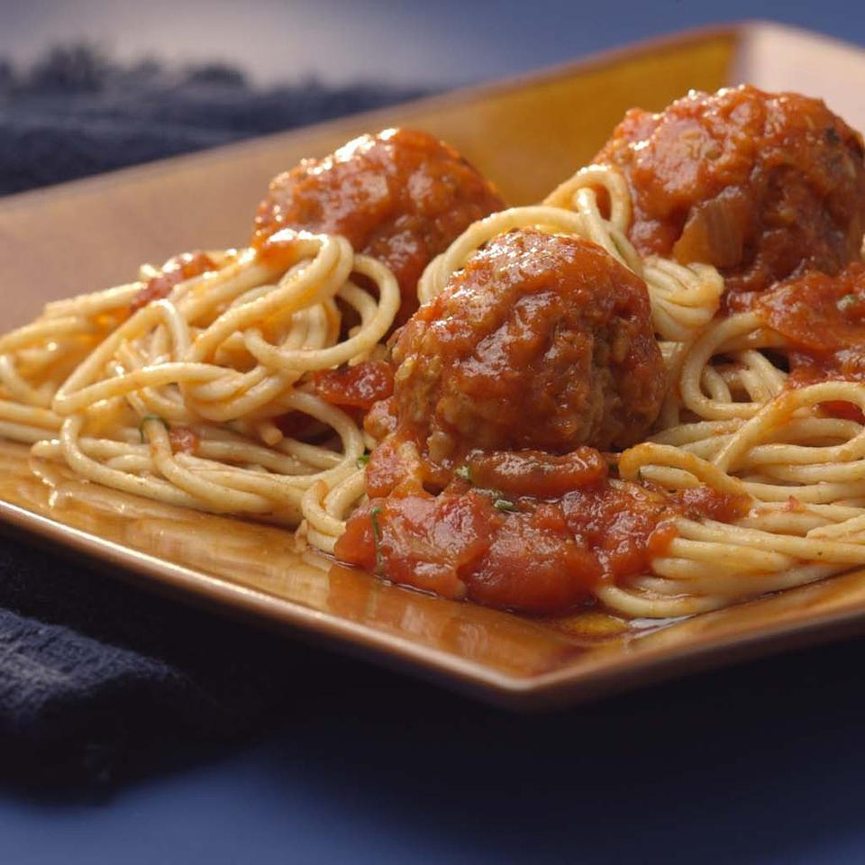 Old-Fashioned Spaghetti & Meatballs EatingWell Test Kitchen