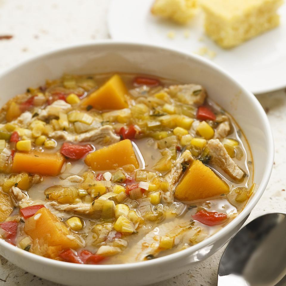Turkey & Squash Soup EatingWell Test Kitchen
