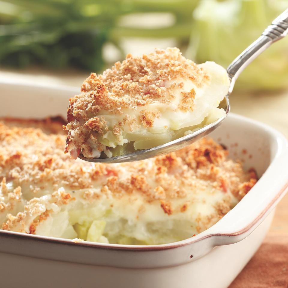 Kohlrabi & Ham Gratin EatingWell Test Kitchen