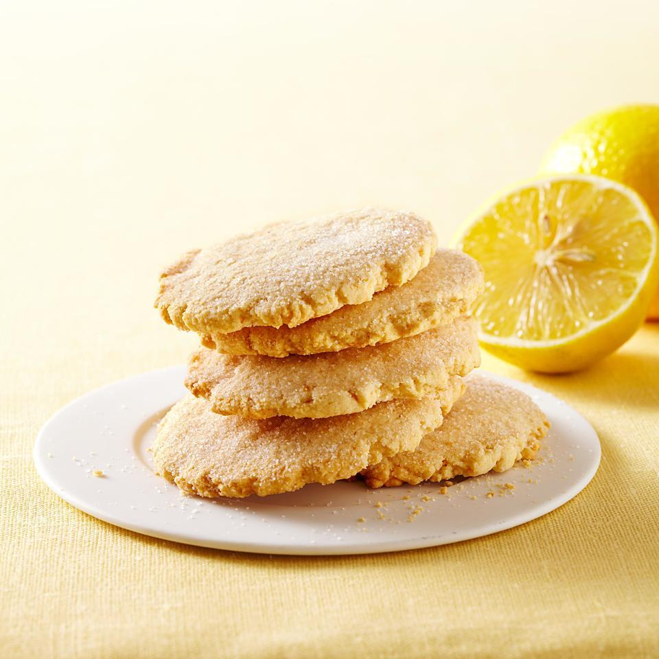 These lemon cookies are made healthier with whole-wheat pastry flour and they get their zippy flavor from fresh lemon zest and juice rather than lemon extract. This lemon cookie recipe would be the perfect accompaniment to afternoon tea. Source: EatingWell Magazine, January/February 2013