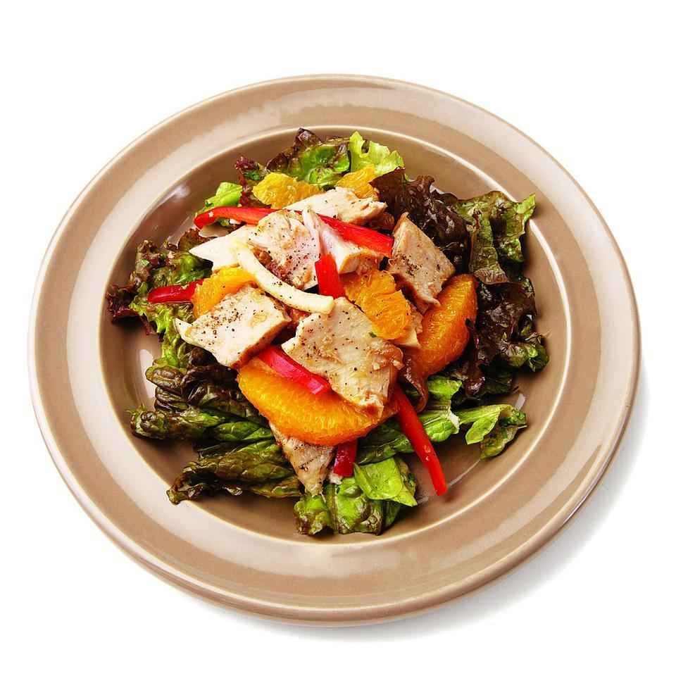 Grilled Tuna, Orange & Jicama Salad with Red Onion Dressing EatingWell Test Kitchen