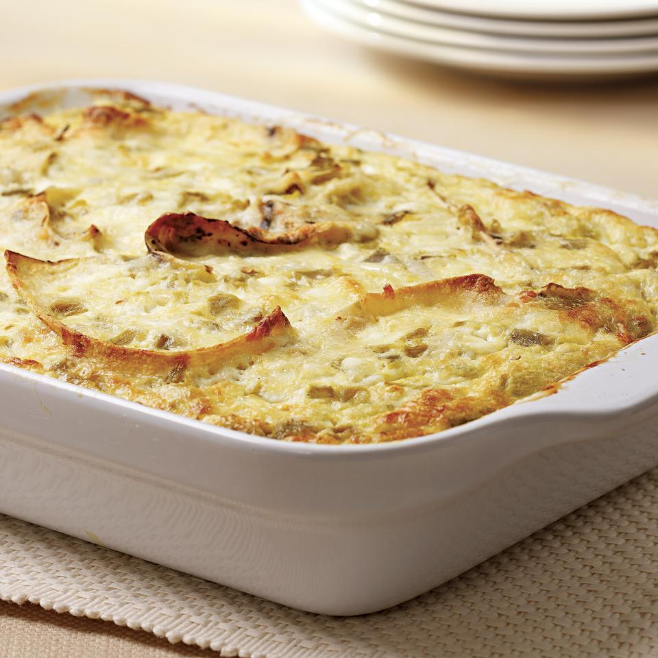 Chile-Cheese Brunch Casserole EatingWell Test Kitchen
