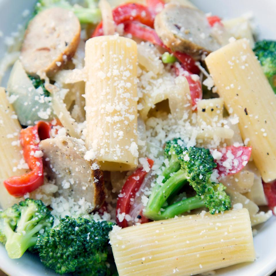Rigatoni with Sausage & Broccoli EatingWell Test Kitchen