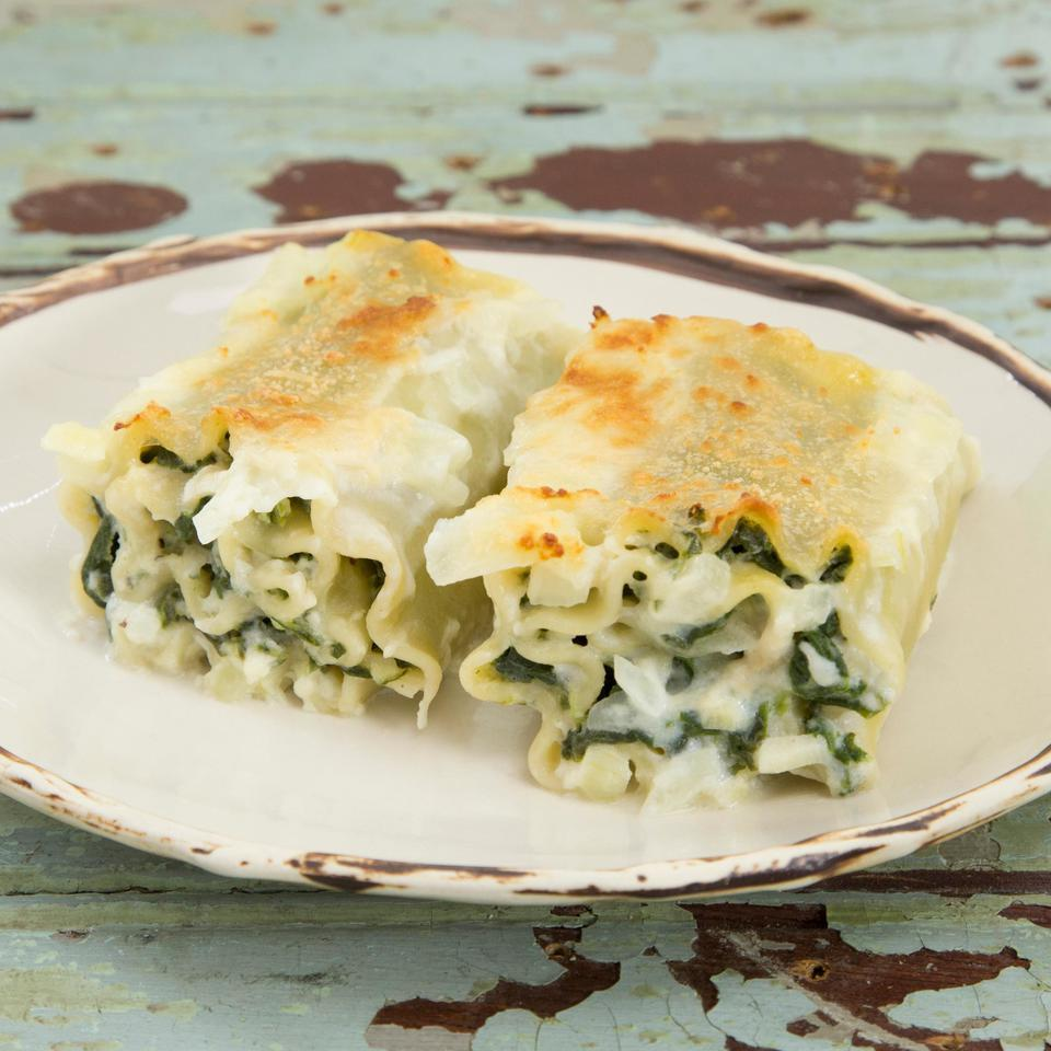 Think portion control with these individual lasagna roll-ups. Leftovers are great for lunch the next day.