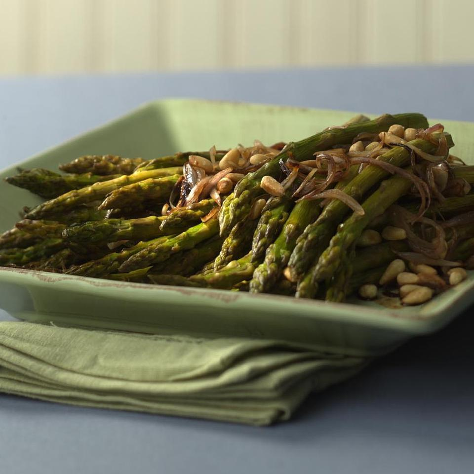 Roasted Asparagus with Pine Nuts Marcy Goldman