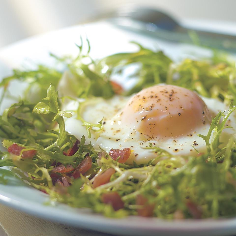 Light Salade aux Lardons EatingWell Test Kitchen