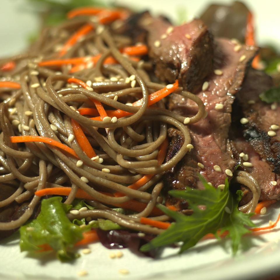 Japanese-Inspired Beef & Noodle Salad EatingWell Test Kitchen