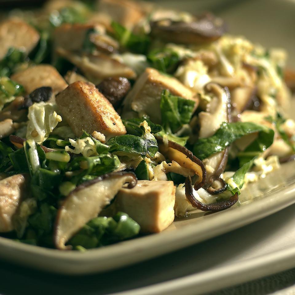 Asian Slaw with Tofu & Shiitake Mushrooms EatingWell Test Kitchen