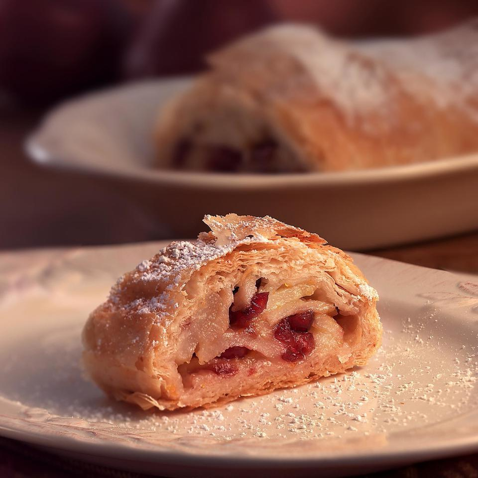 Pear & Dried Cranberry Strudel EatingWell Test Kitchen