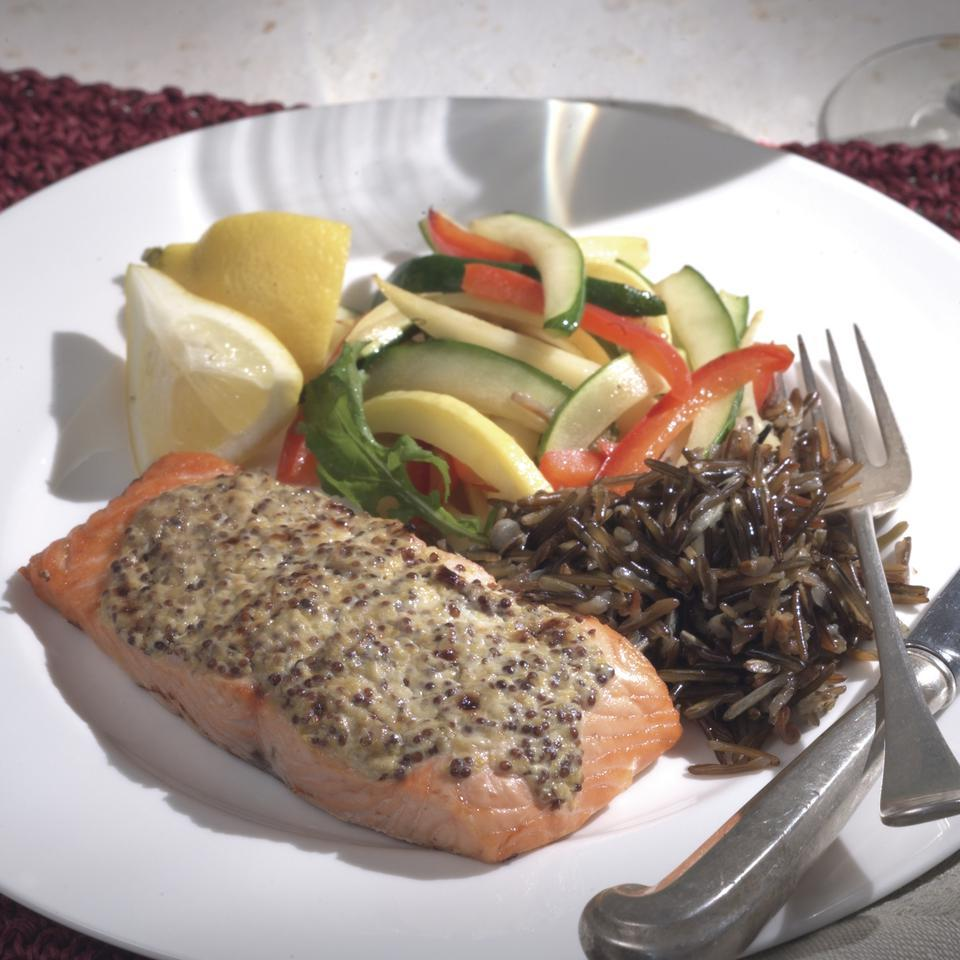 This updated French bistro dish makes a simple dinner any night of the week. You might want to consider doubling the batch and using the remaining salmon in a tossed salad the next day.Source: EatingWell Magazine, Fall 2003