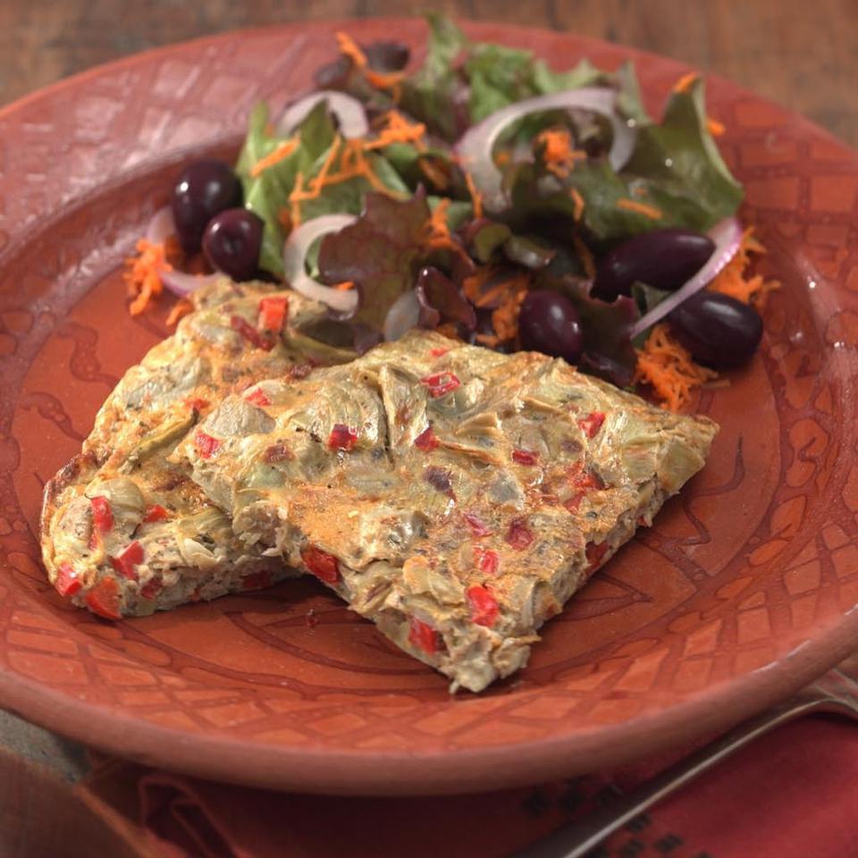 Artichoke & Red Pepper Frittata EatingWell Test Kitchen
