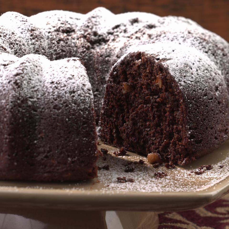 "An adaptation of EatingWell's popular Died-and-Went-to-Heaven Chocolate Cake, this recipe is from reader Barr Hogen of San Francisco. ""I love chocolate--it has antioxidants--but Americans need more fiber in our diet. So I added prunes, which provide a lot of moisture, and flaxseeds, which have the added benefit of omega-3s,"" she wrote. ""If you can squeeze fiber into your decadent dessert, why not?"""