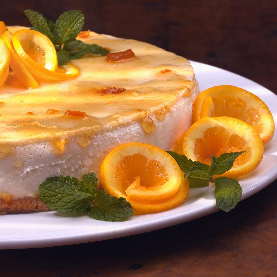 Marmalade-Glazed Orange Cheesecake EatingWell Test Kitchen