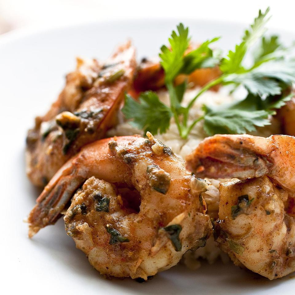 Indian Spiced Shrimp Raghavan Iyer