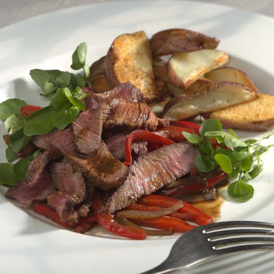 Southwestern Steak & Peppers EatingWell Test Kitchen