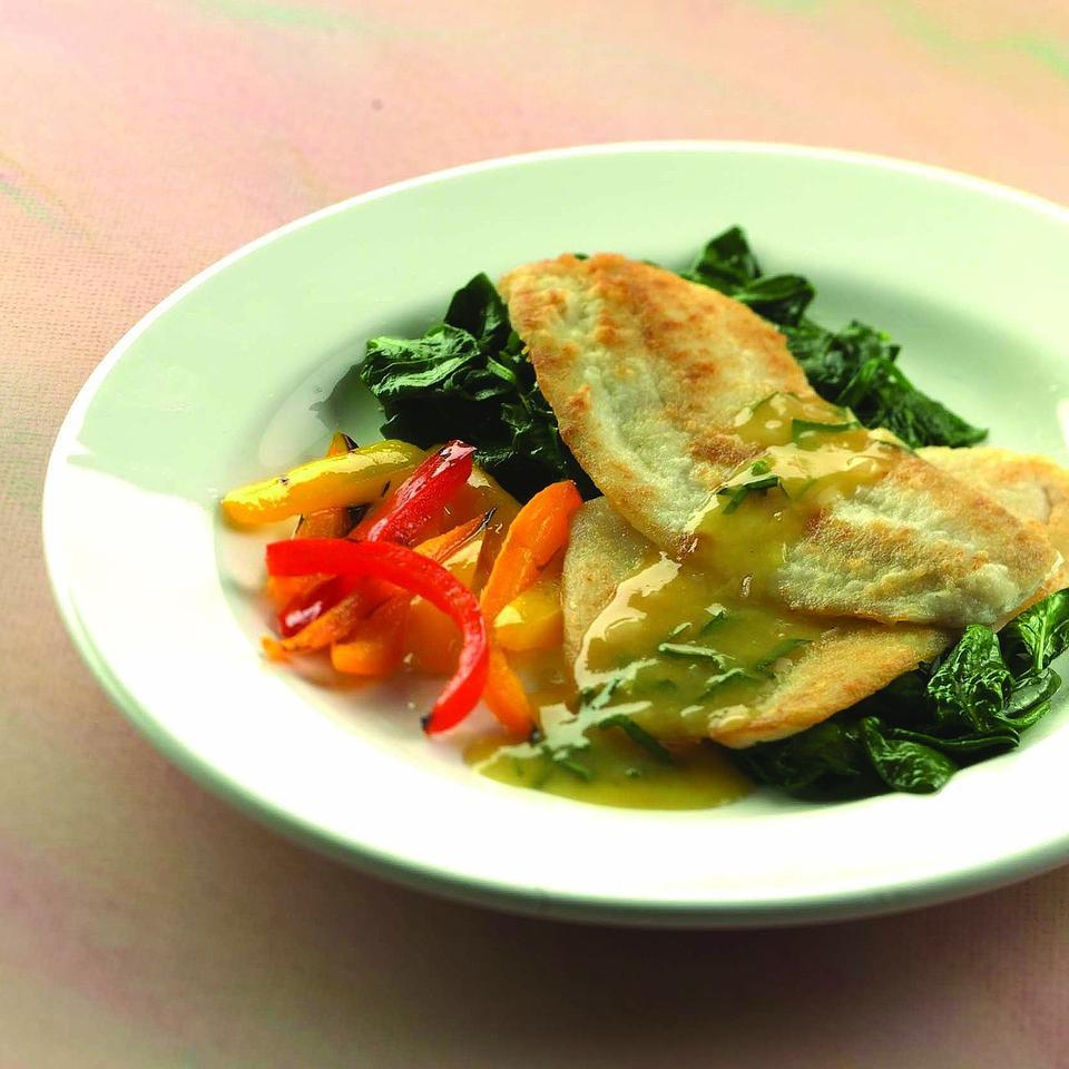Sauteed Flounder with Orange-Shallot Sauce Natalie Danford