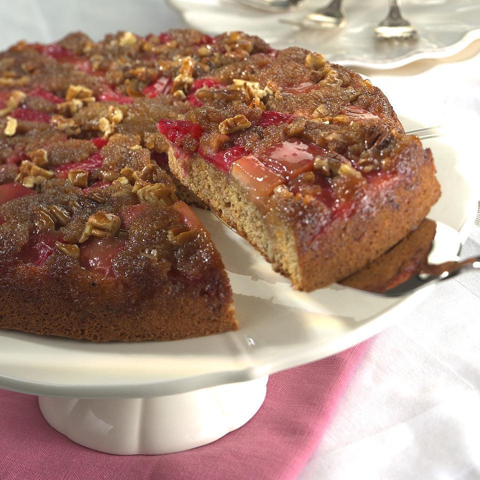 Rhubarb Upside-Down Cake EatingWell Test Kitchen