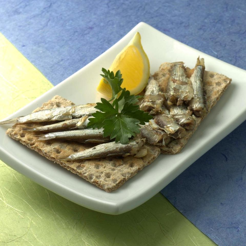 Sardines on Crackers EatingWell Test Kitchen