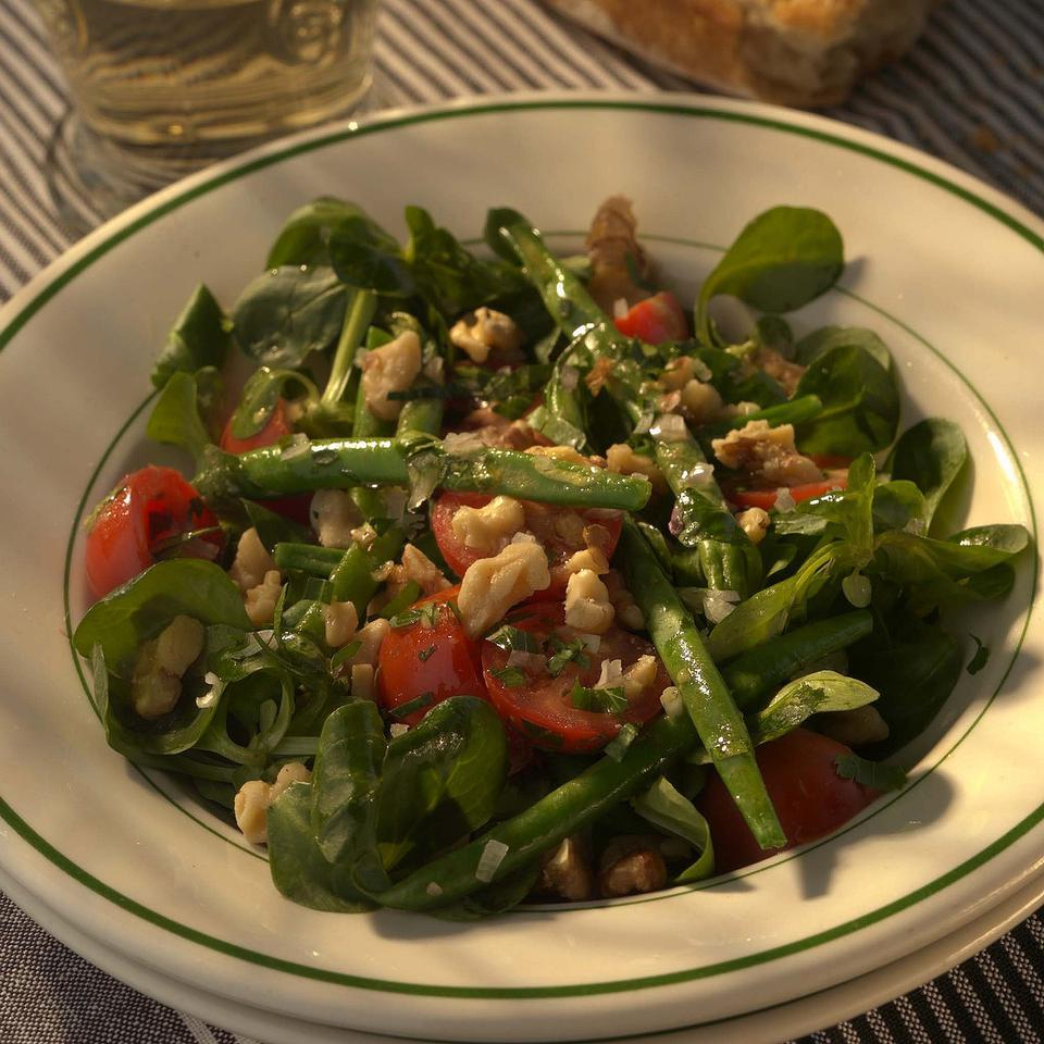 Warm Green Bean Salad with Toasted Walnuts Victoria Abbott Riccardi
