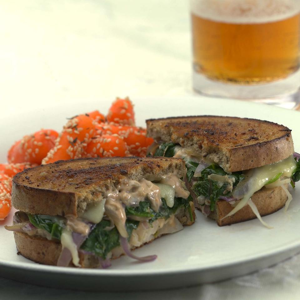 Vegetarian Reubens with Russian Dressing EatingWell Test Kitchen