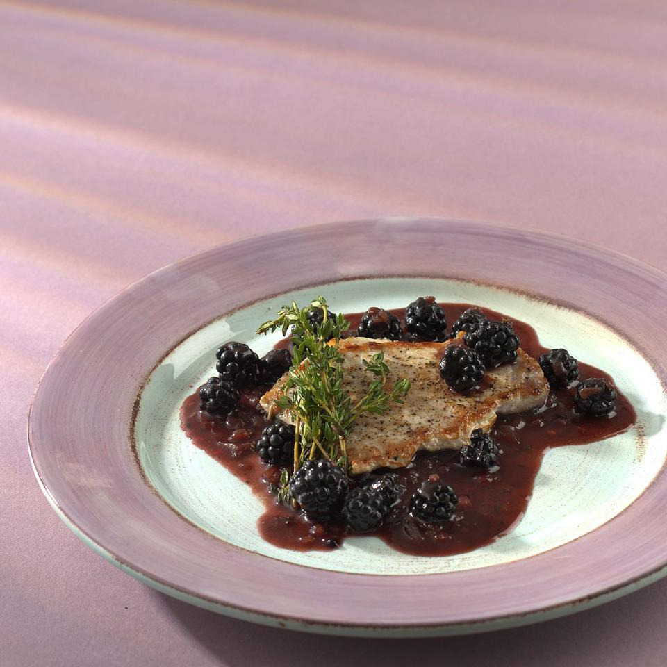 Quick Pork Saute with Blackberries Patsy Jamieson