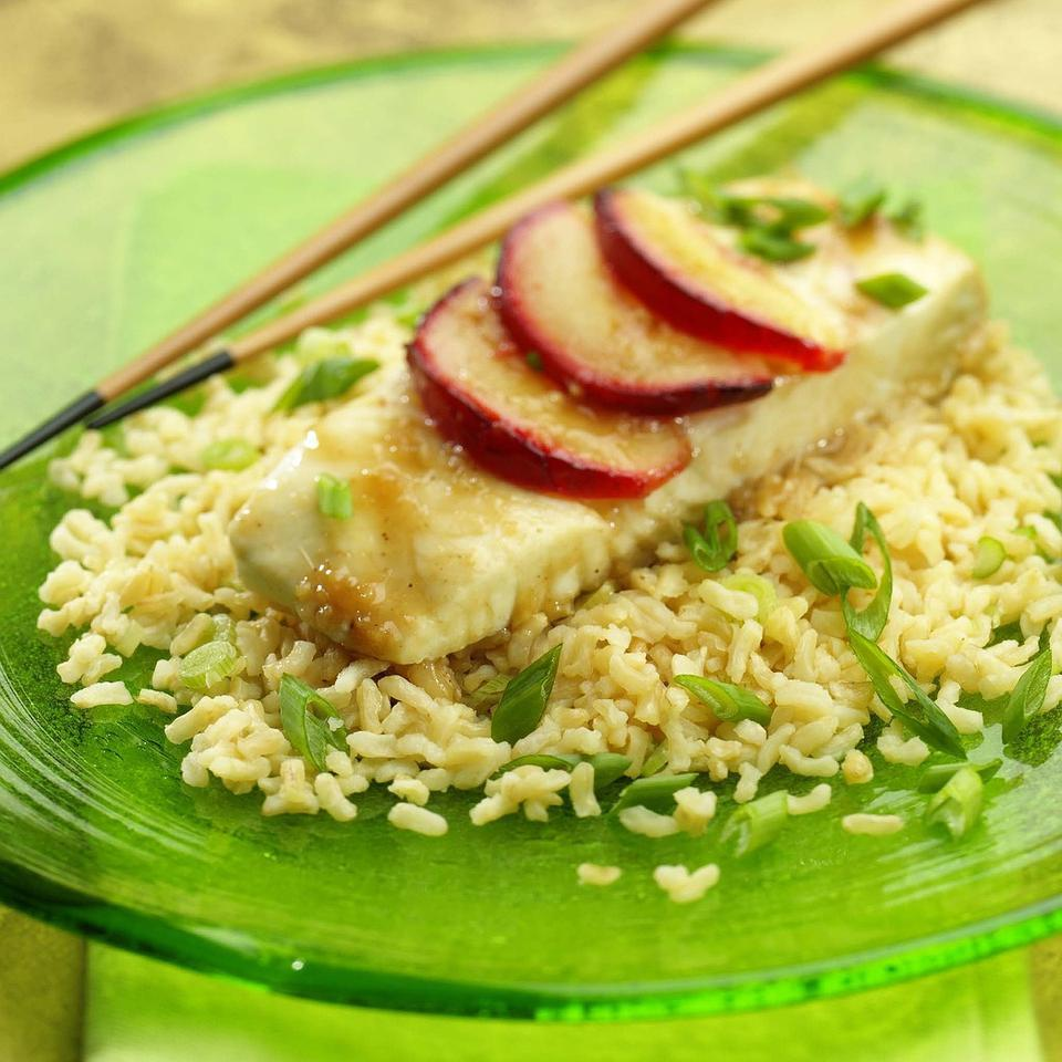 Asian Halibut & Brown Rice Packets Jim Romanoff