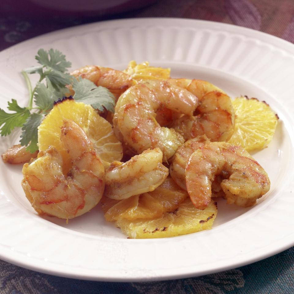 Curry-Roasted Shrimp with Oranges Kathy Farrell-Kingsley