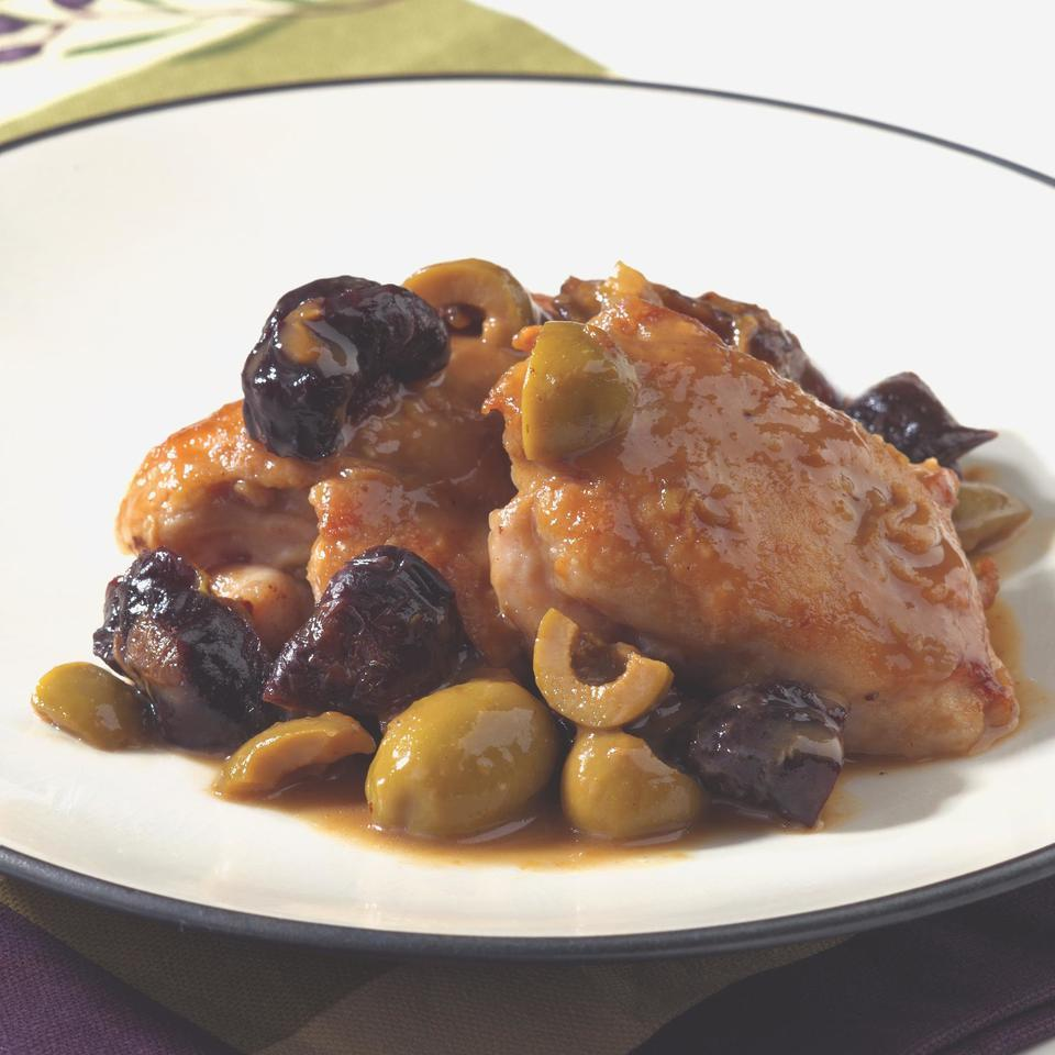 Chicken with Green Olives & Prunes EatingWell Test Kitchen