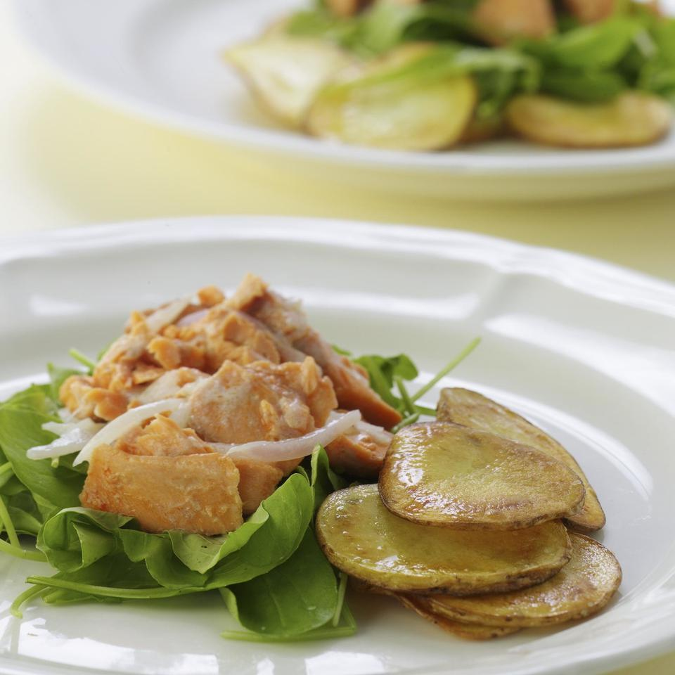 Warm Salmon Salad with Crispy Potatoes EatingWell Test Kitchen