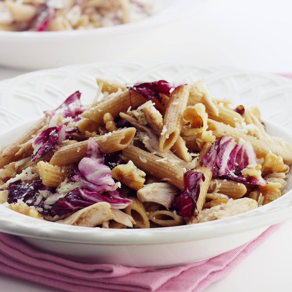 Penne with Roasted Chicken & Radicchio EatingWell Test Kitchen