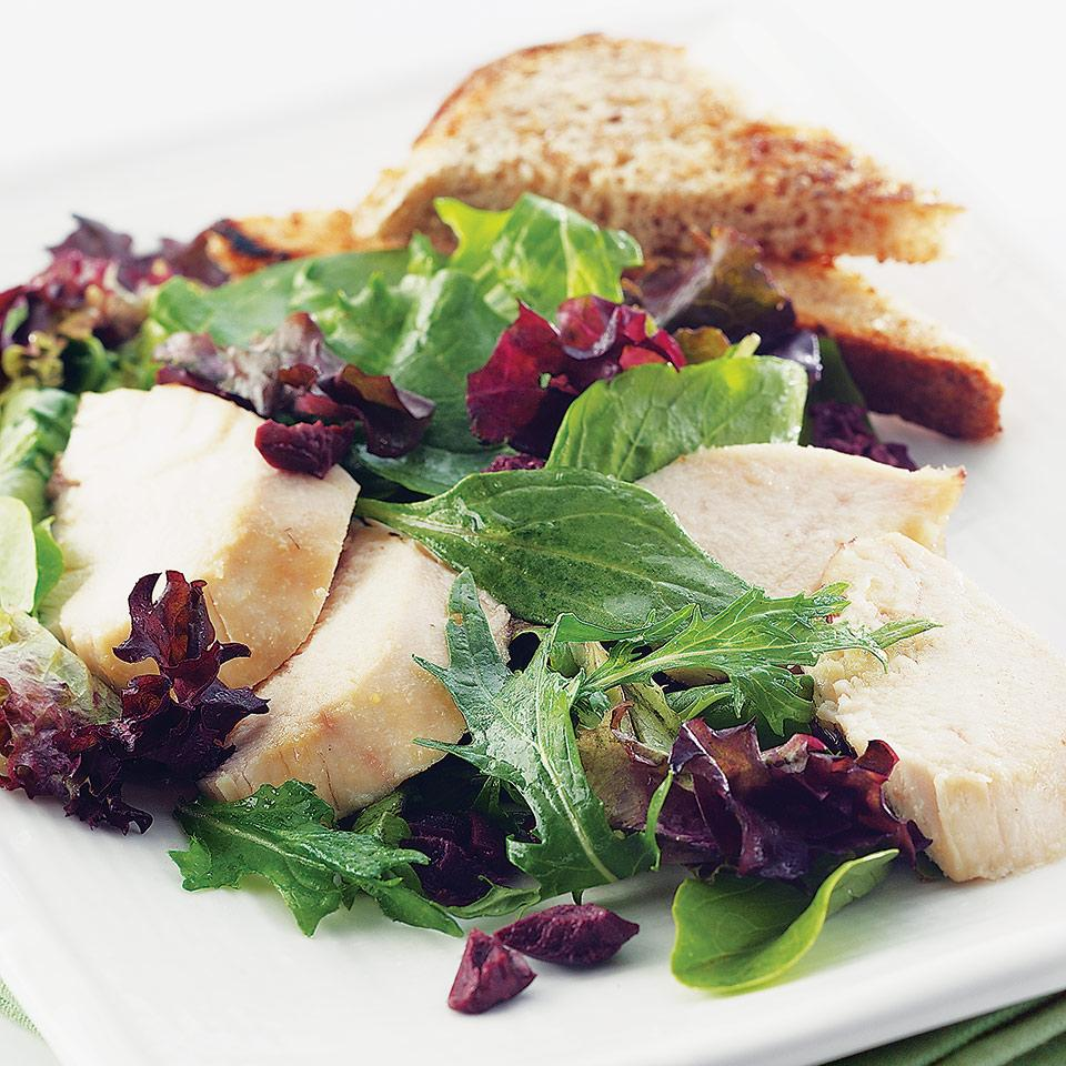 Roasted Chicken Salad with Garlic Toasts EatingWell Test Kitchen
