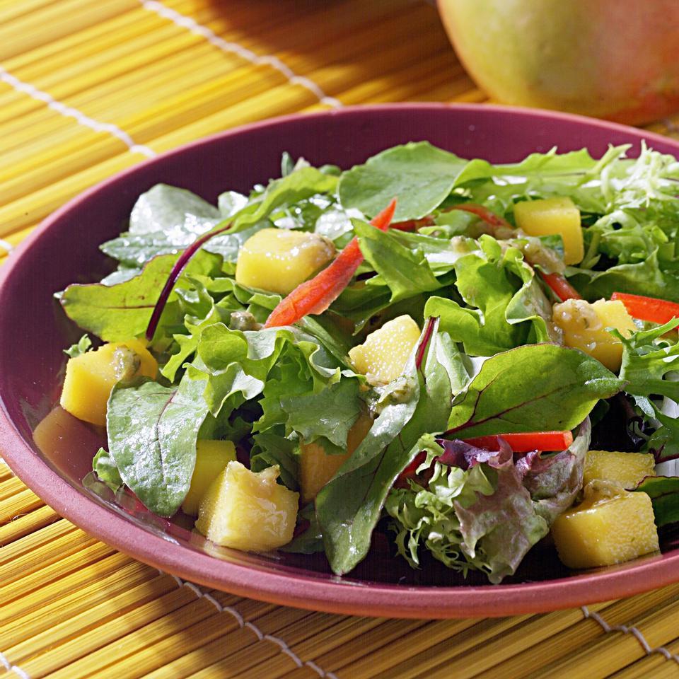 Mango Salad with Ginger-Raisin Vinaigrette Raghavan Iyer