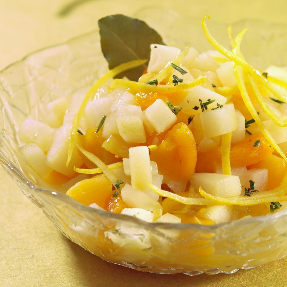 Pear & Dried Apricot Salsa with Lemon & Rosemary Marie Simmons
