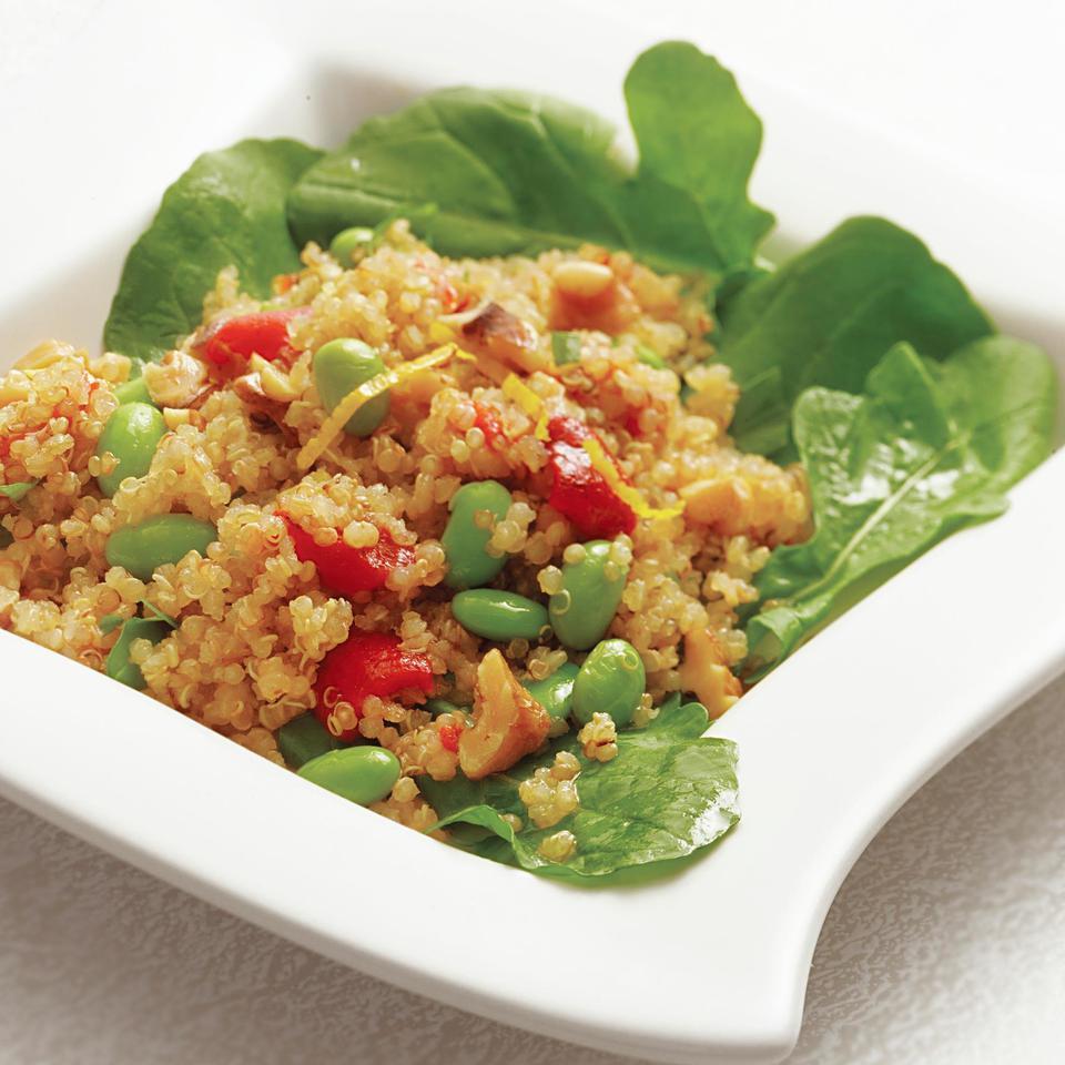 Warm Quinoa Salad with Edamame & Tarragon EatingWell Test Kitchen