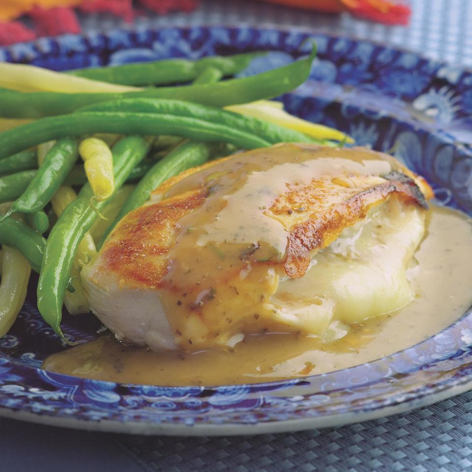 Chicken Stuffed with Golden Onions & Fontina Victoria Abbott Riccardi