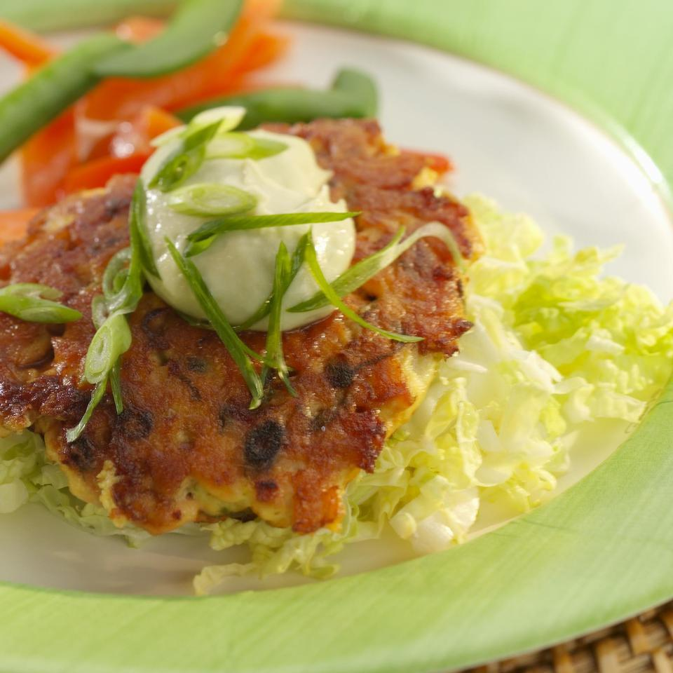 Wasabi Salmon Burgers EatingWell Test Kitchen
