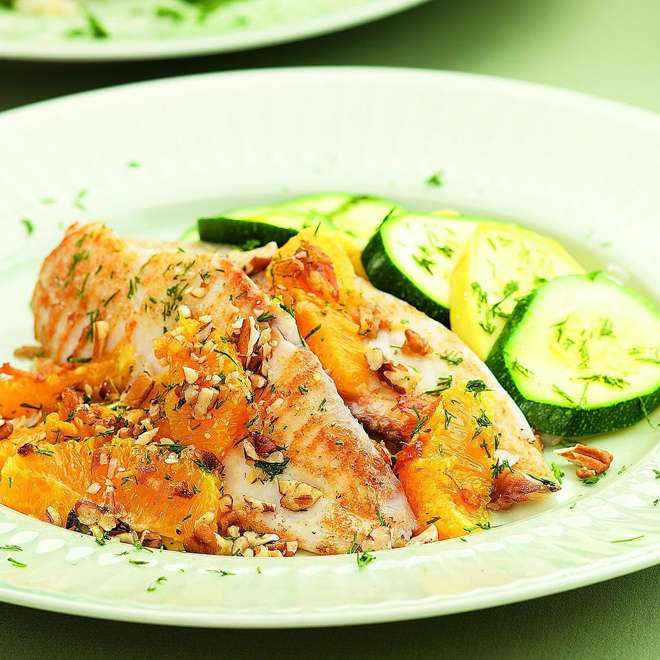 Pacific Sole with Oranges & Pecans EatingWell Test Kitchen