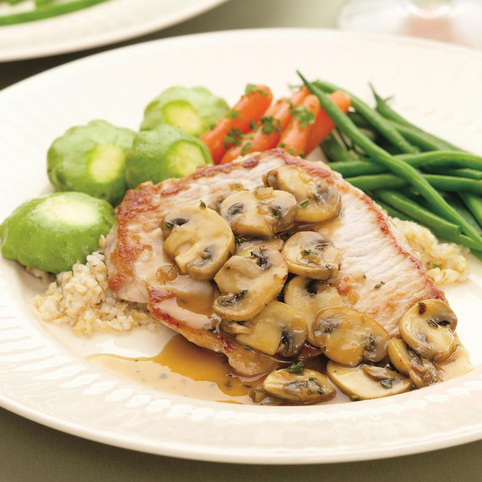 Although this supper is made to serve two, you can double or triple the recipe so it becomes a family meal that's big on taste but still very healthy. If you'd rather not use vermouth, substitute unsweetened apple juice.Source: EatingWell Magazine, August/September 2005