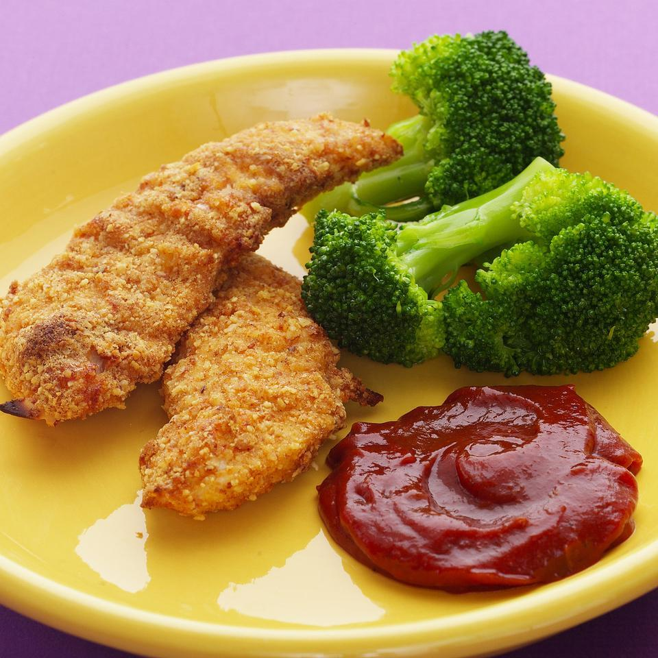 Almond-Crusted Chicken Fingers EatingWell Test Kitchen