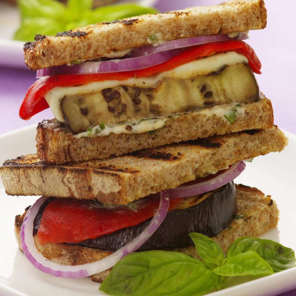 Grilled Eggplant Panini EatingWell Test Kitchen