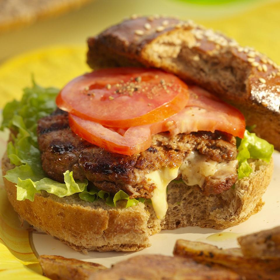 Inside-Out Cheeseburgers EatingWell Test Kitchen