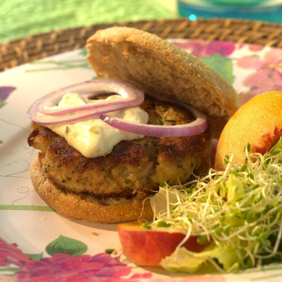 Crab Cake Burgers EatingWell Test Kitchen